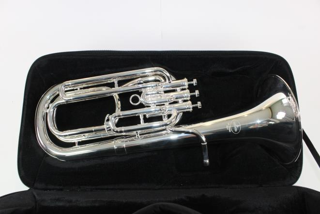 Besson Model 1057-2-0 Performance Bb Baritone Horn in SILVER DISPLAY MODEL