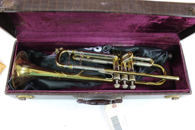 Early Elkhart Bach Stradivarius Model 37 Professional Trumpet LEBERT LOMBARDO OWNED